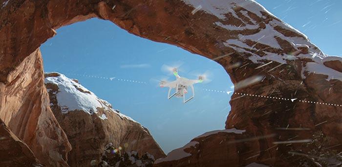 الگوریتمهای خودکار پروازی پهپاد یا کوادکوپتر دوربین دار فانتوم 4