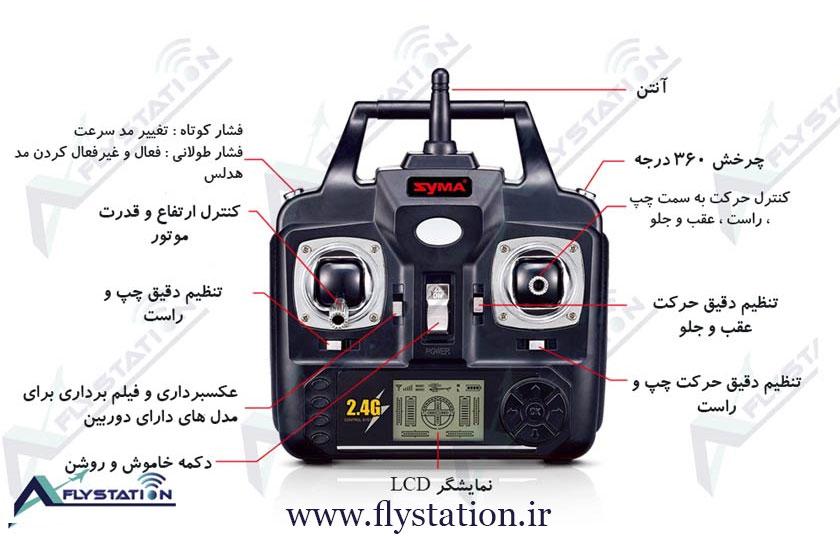 راهنمای رادیو کنترل های سایما